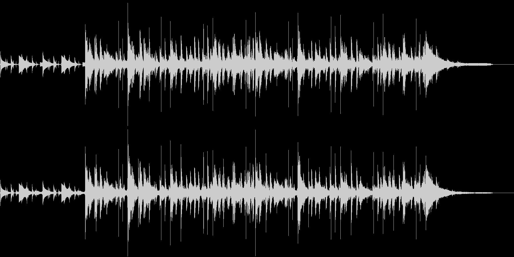 水の中を意識した電子音と打楽器のBGMの未再生の波形