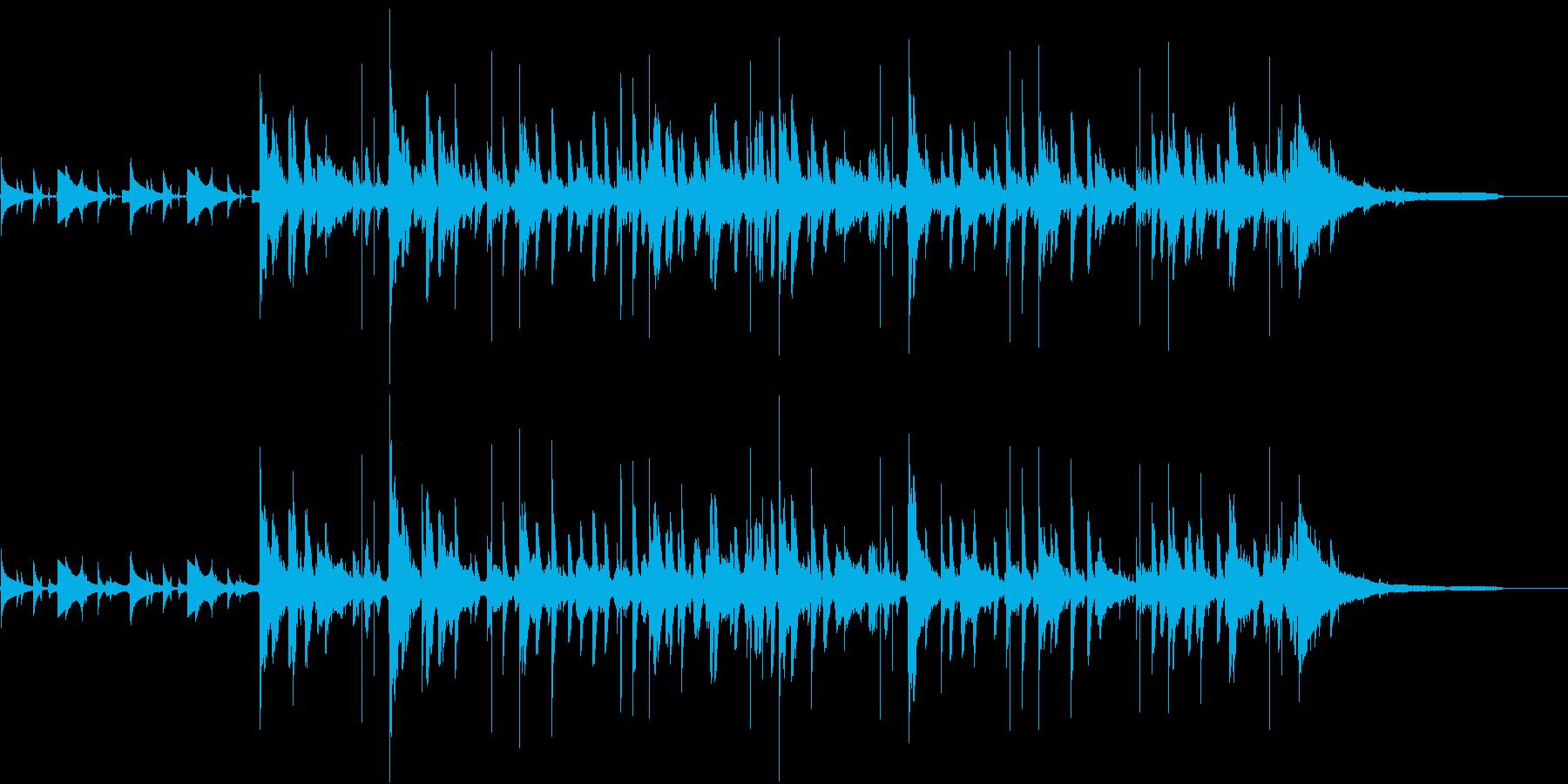 水の中を意識した電子音と打楽器のBGMの再生済みの波形
