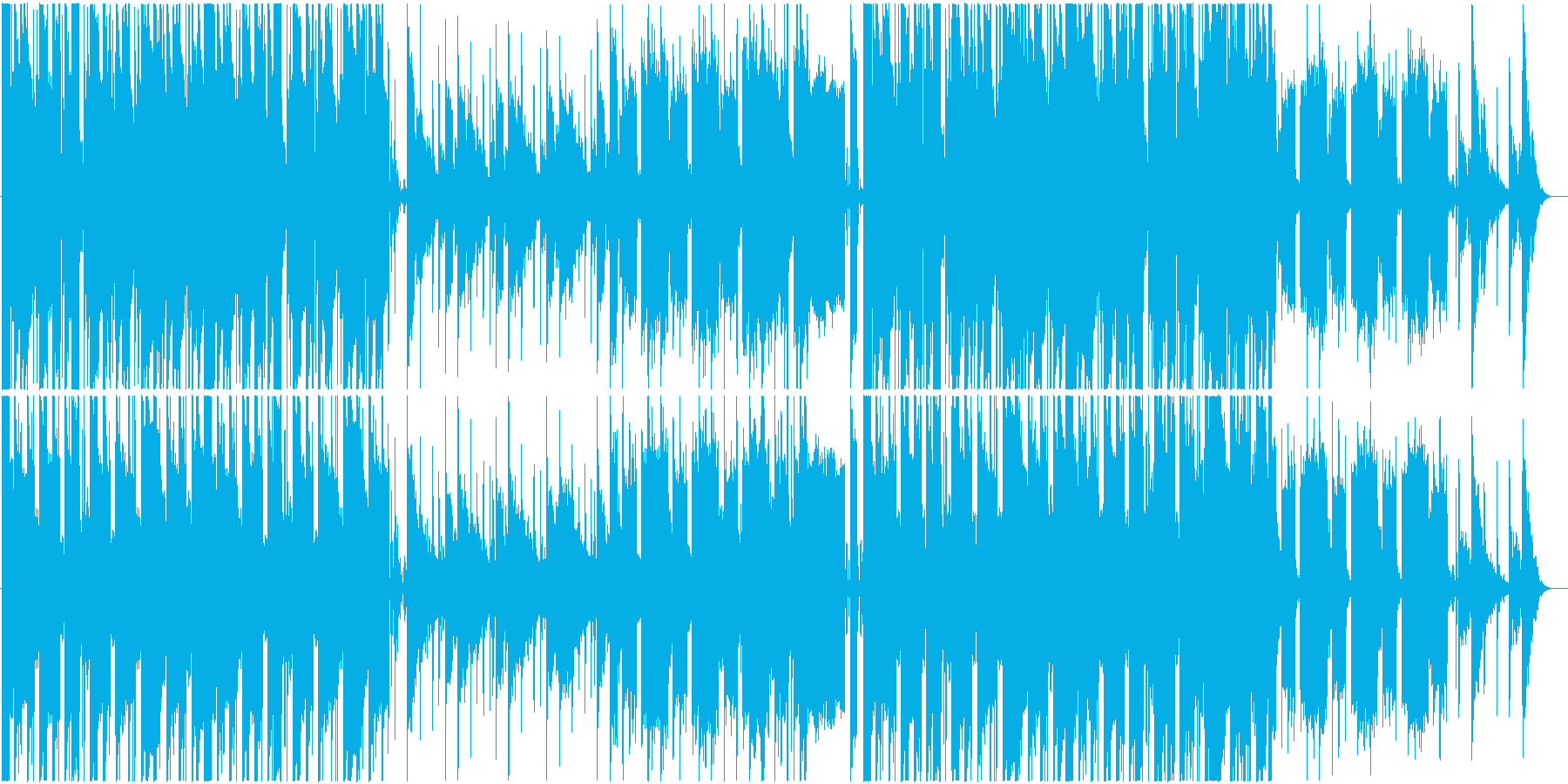不思議で儀式的なイメージの楽曲の再生済みの波形