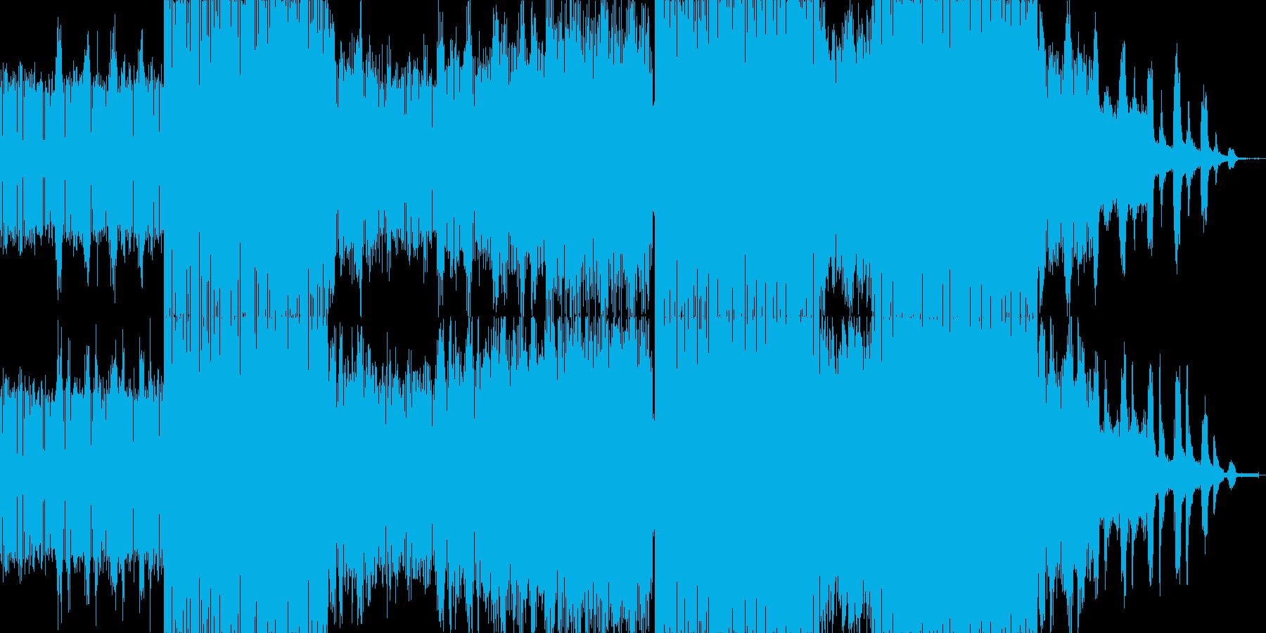 春×テクノ のイメージです。電子音が中…の再生済みの波形
