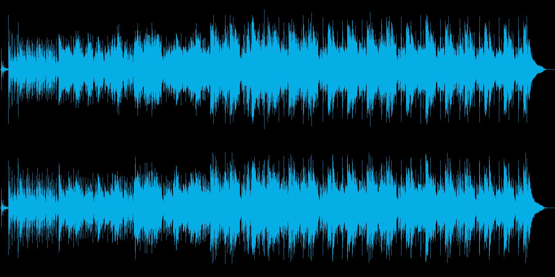 サックスの旋律が入ったセッション形式の曲の再生済みの波形