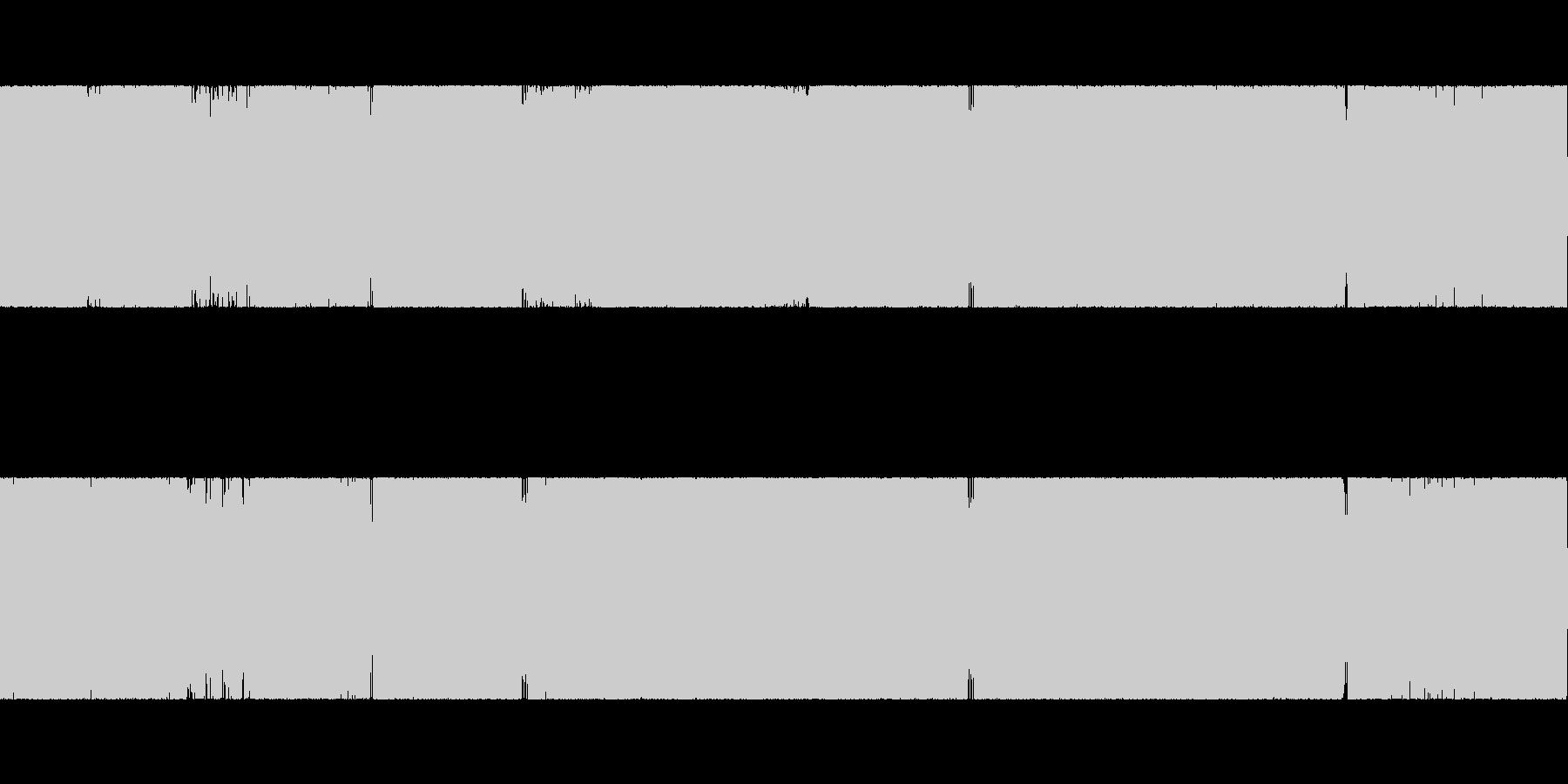 通常の戦闘シーン1の未再生の波形