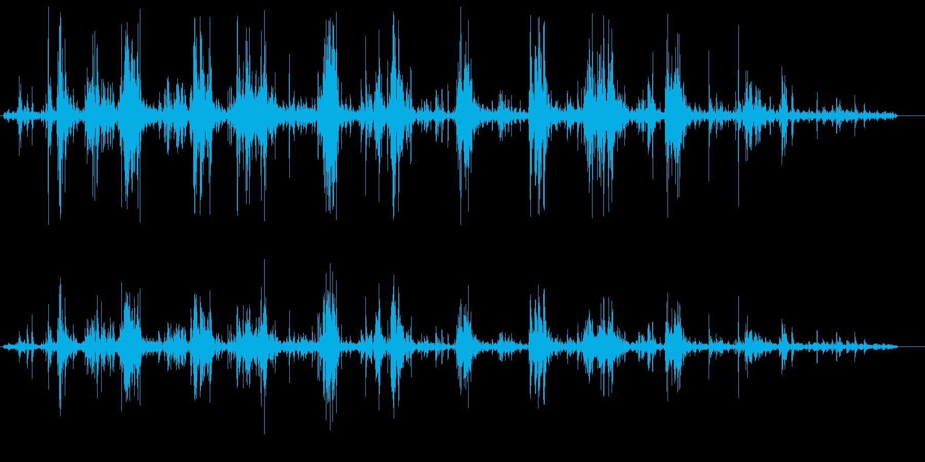 グチャグチャ(不快感、不安を仰ぐ効果音)の再生済みの波形
