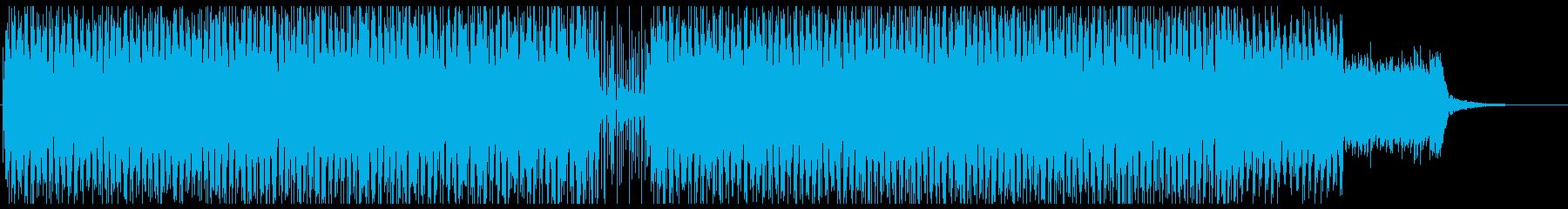 お洒落でキャッチーなテクノポップの再生済みの波形