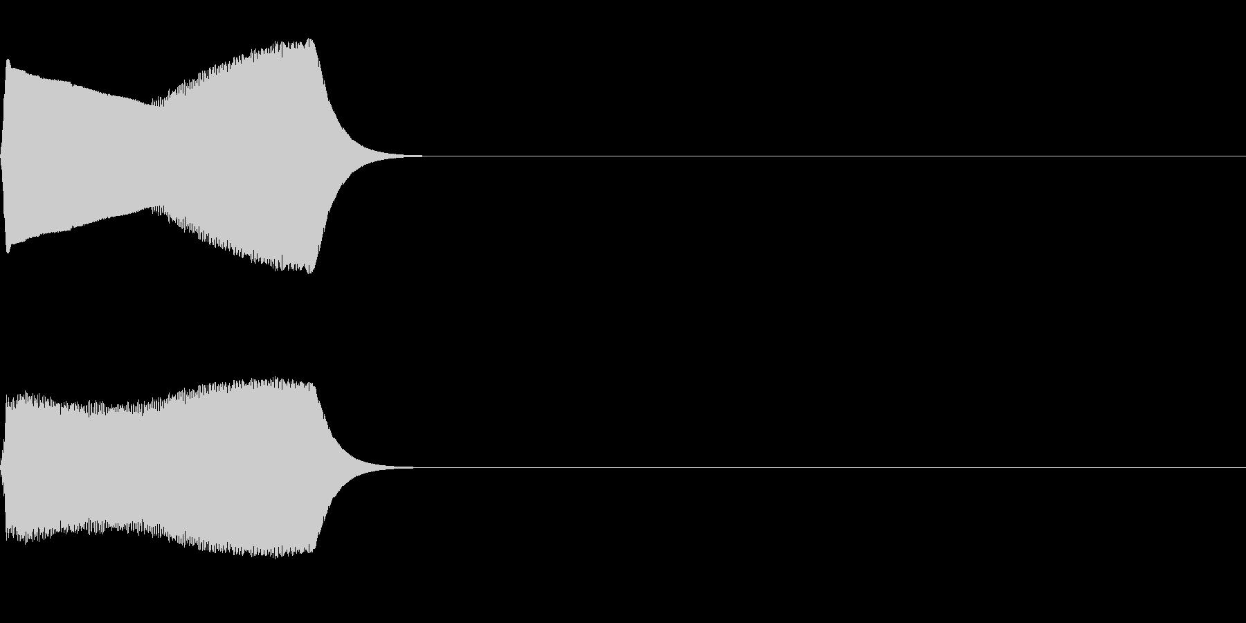 ジャンプ音03(ピヨッ)の未再生の波形