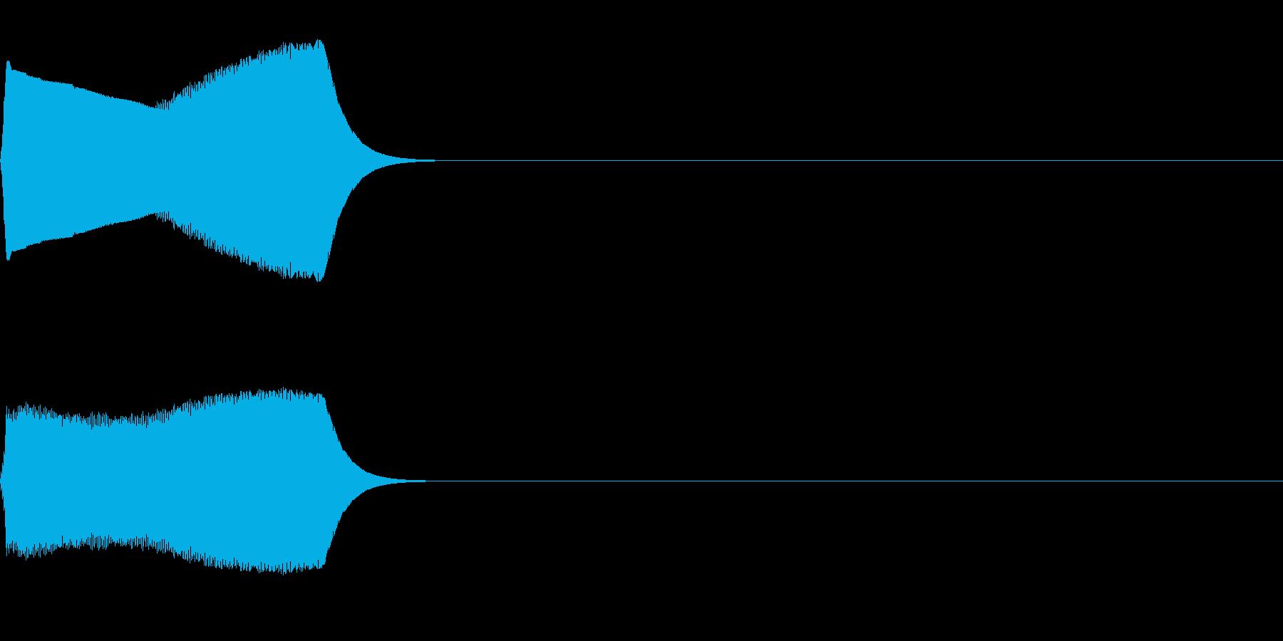 ジャンプ音03(ピヨッ)の再生済みの波形