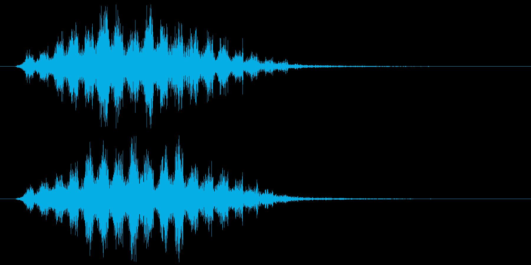 魔法の再生済みの波形