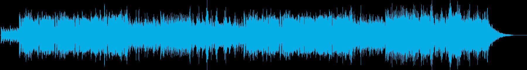 スローなバラード系の曲の再生済みの波形