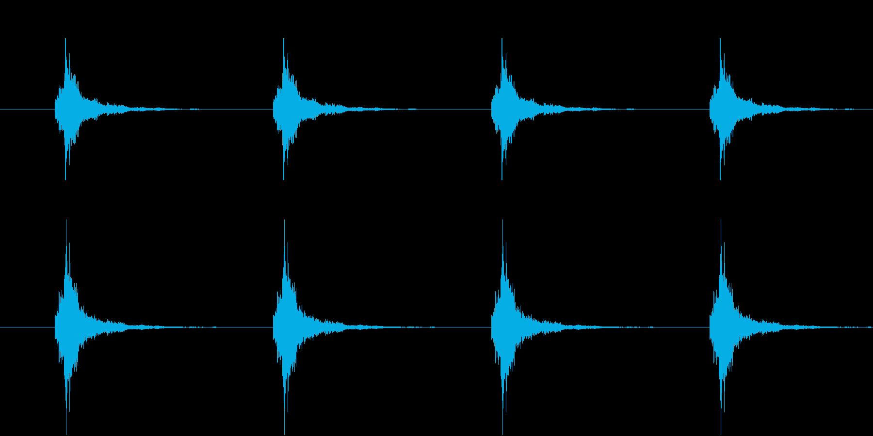 鈴が鳴る音(和風ホラー向け・ループ可能)の再生済みの波形