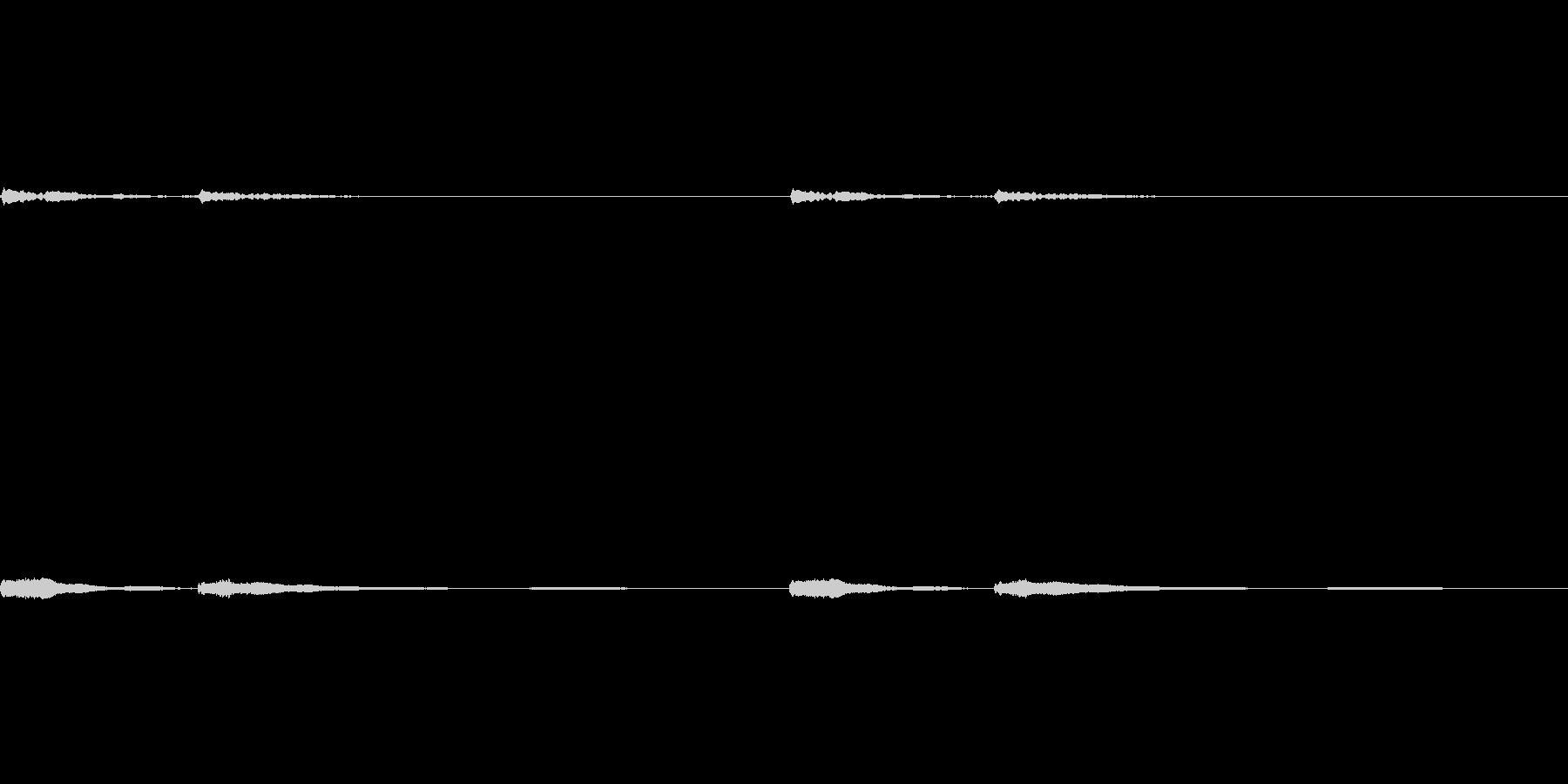 浮遊感のあるピアノの未再生の波形