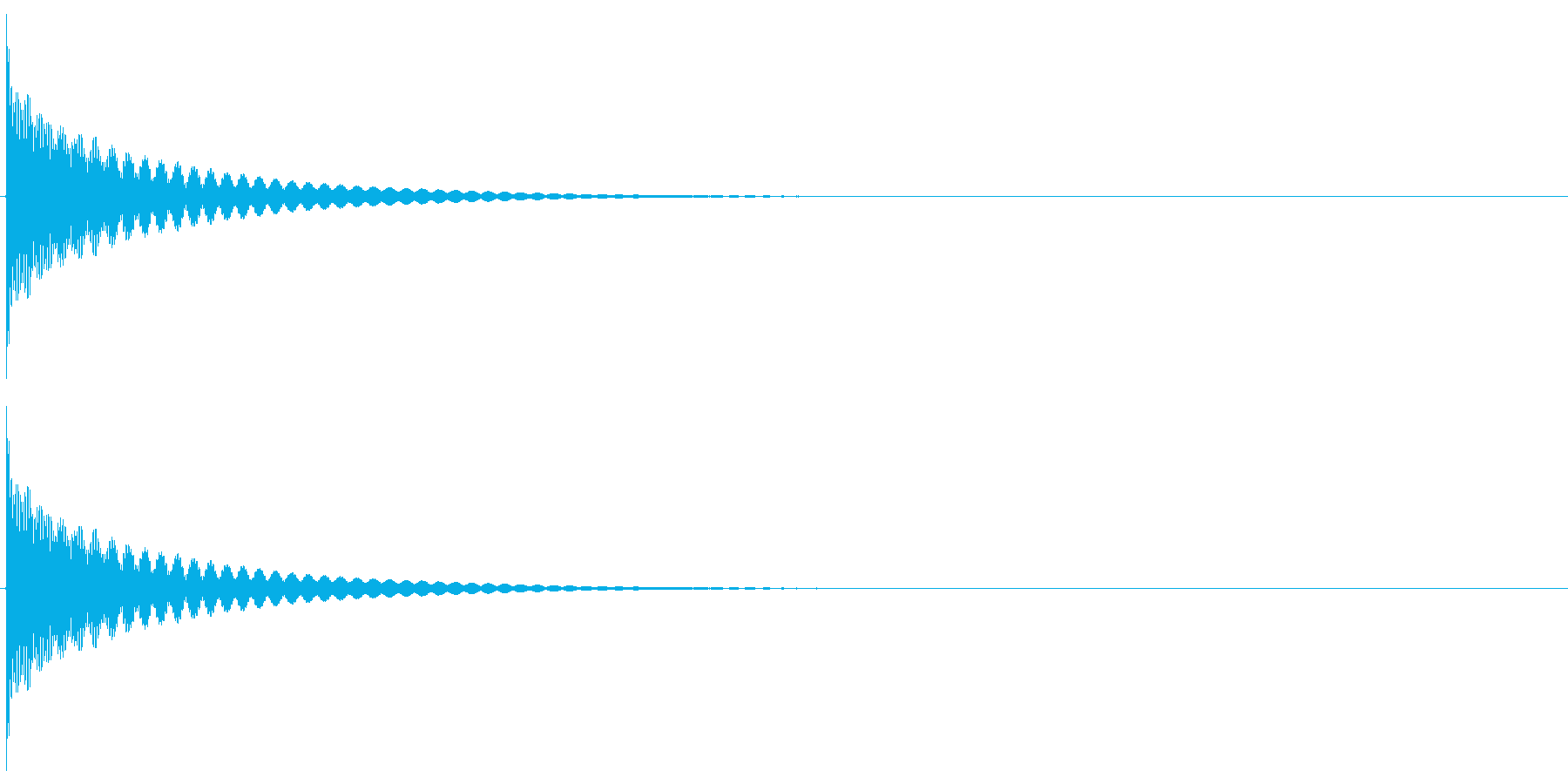 チーン(ティンシャ/チベタンベル/瞑想)の再生済みの波形