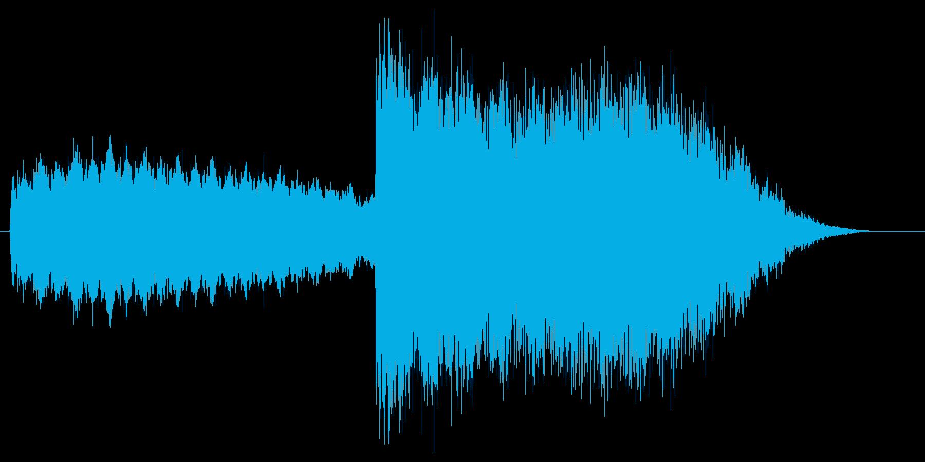 強力な雷魔法をイメージした効果音ですの再生済みの波形