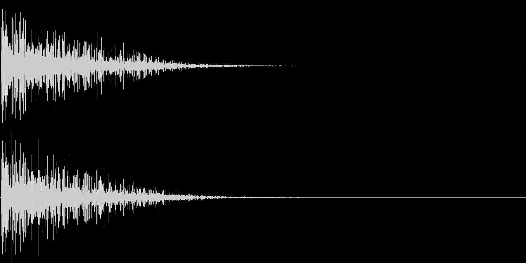 バン。発砲音C(低め)の未再生の波形
