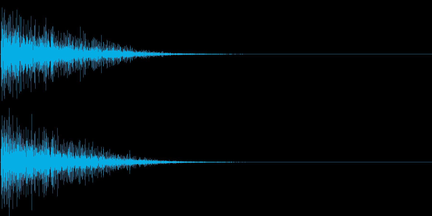 バン。発砲音C(低め)の再生済みの波形