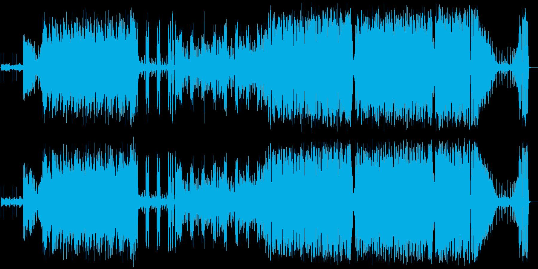 ハイテンポ、ヘヴィで激しいオルタナの再生済みの波形