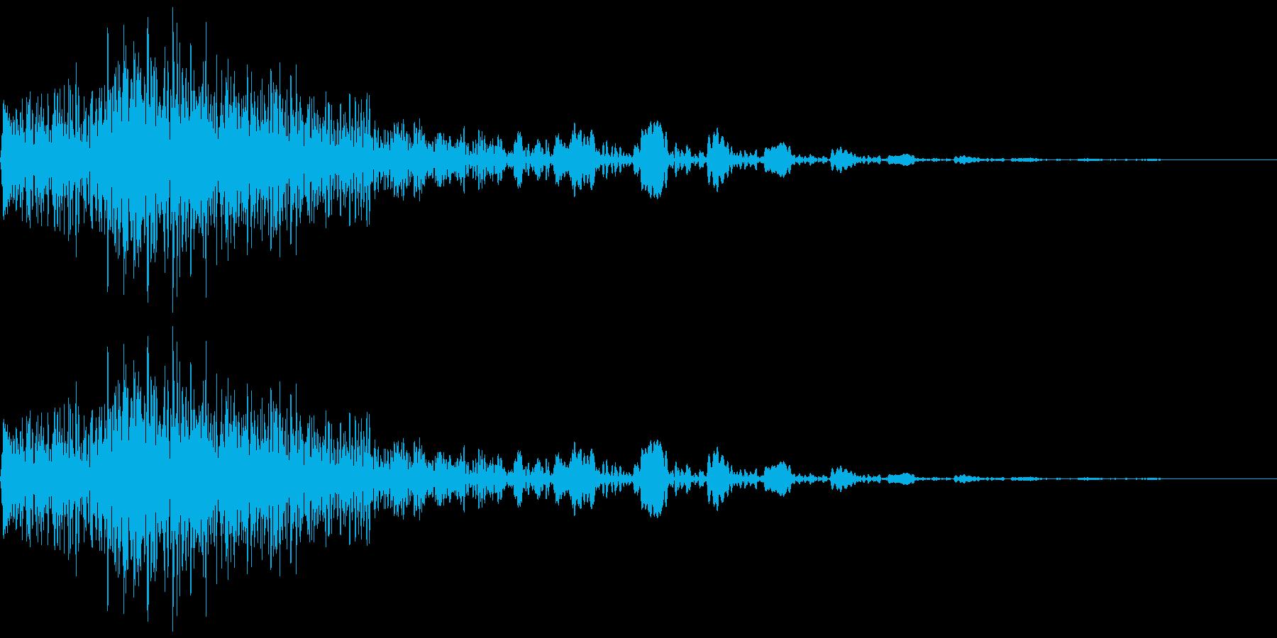 衝撃音の再生済みの波形