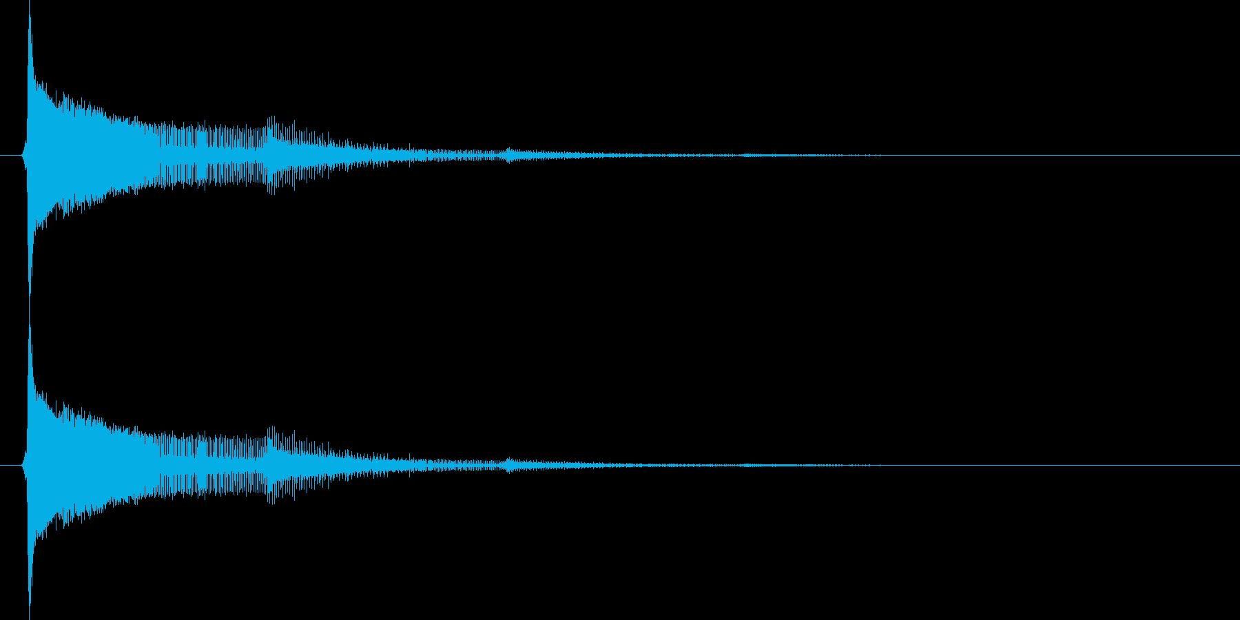 8bit音源のピューン(ビーム音)1の再生済みの波形