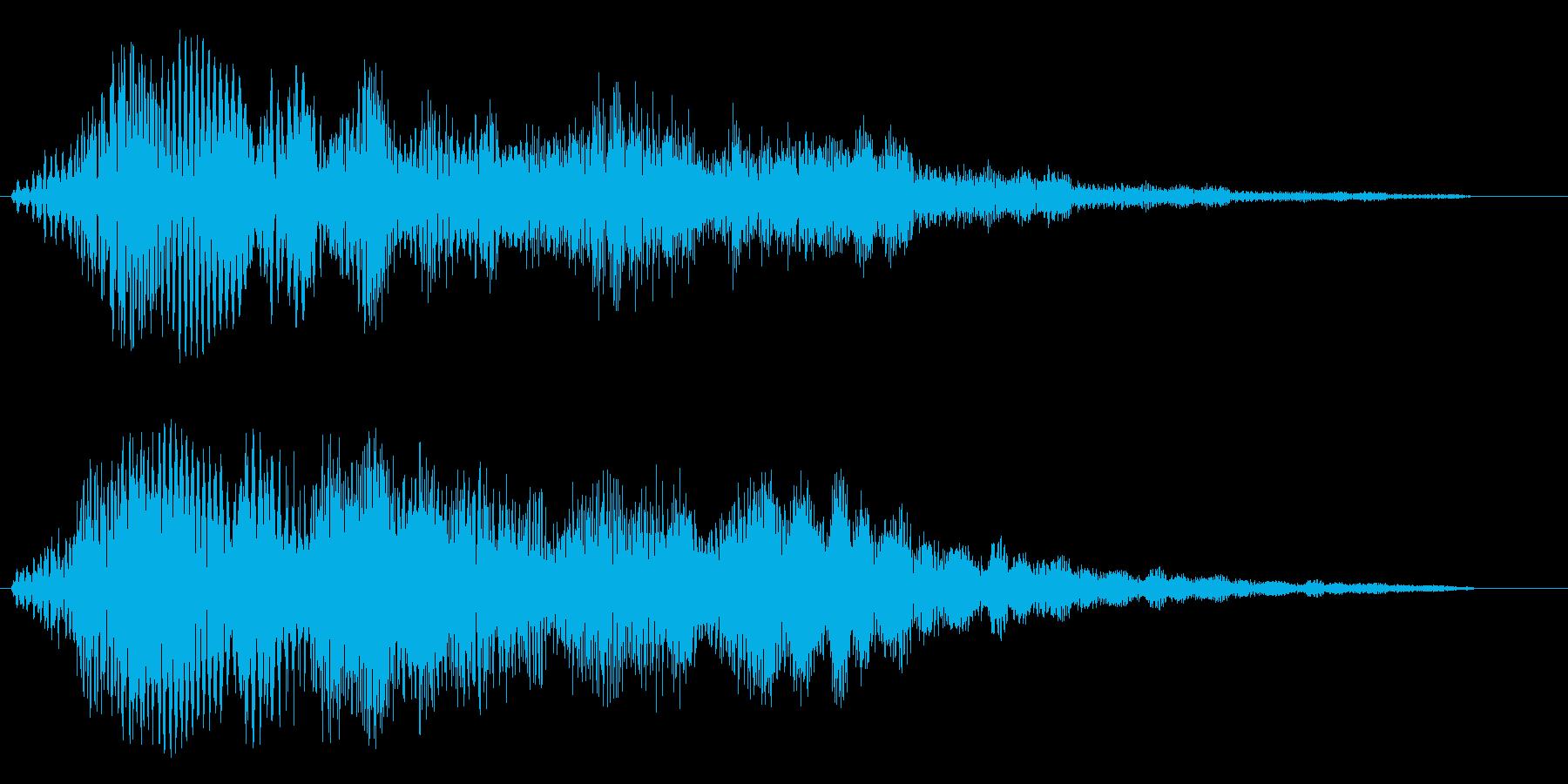 ジュワワワーン↑(タイトル音)の再生済みの波形