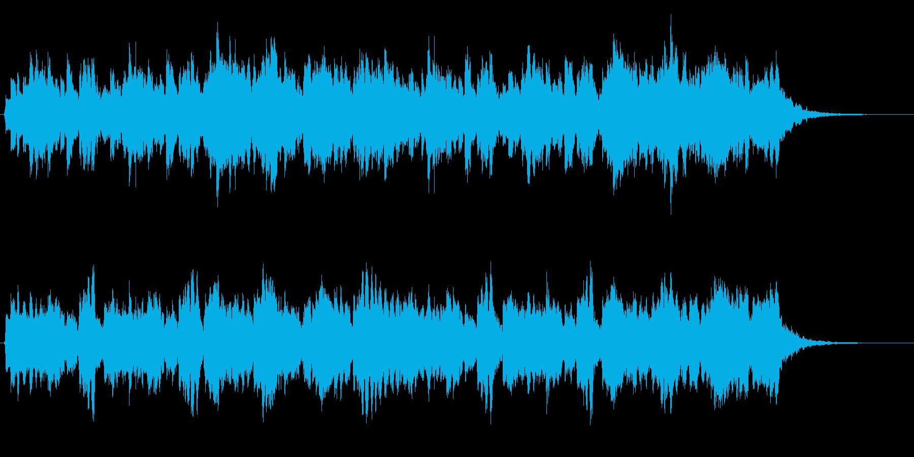 ピッコロとシンセの優しい雰囲気のジングルの再生済みの波形