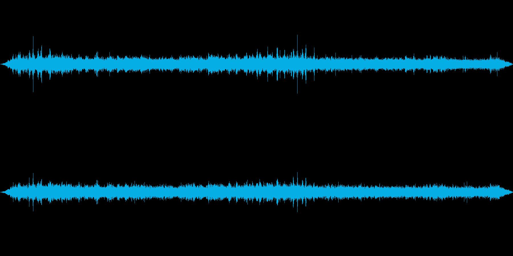 小鳥の鳴き声と渓流のせせらぎ音の再生済みの波形