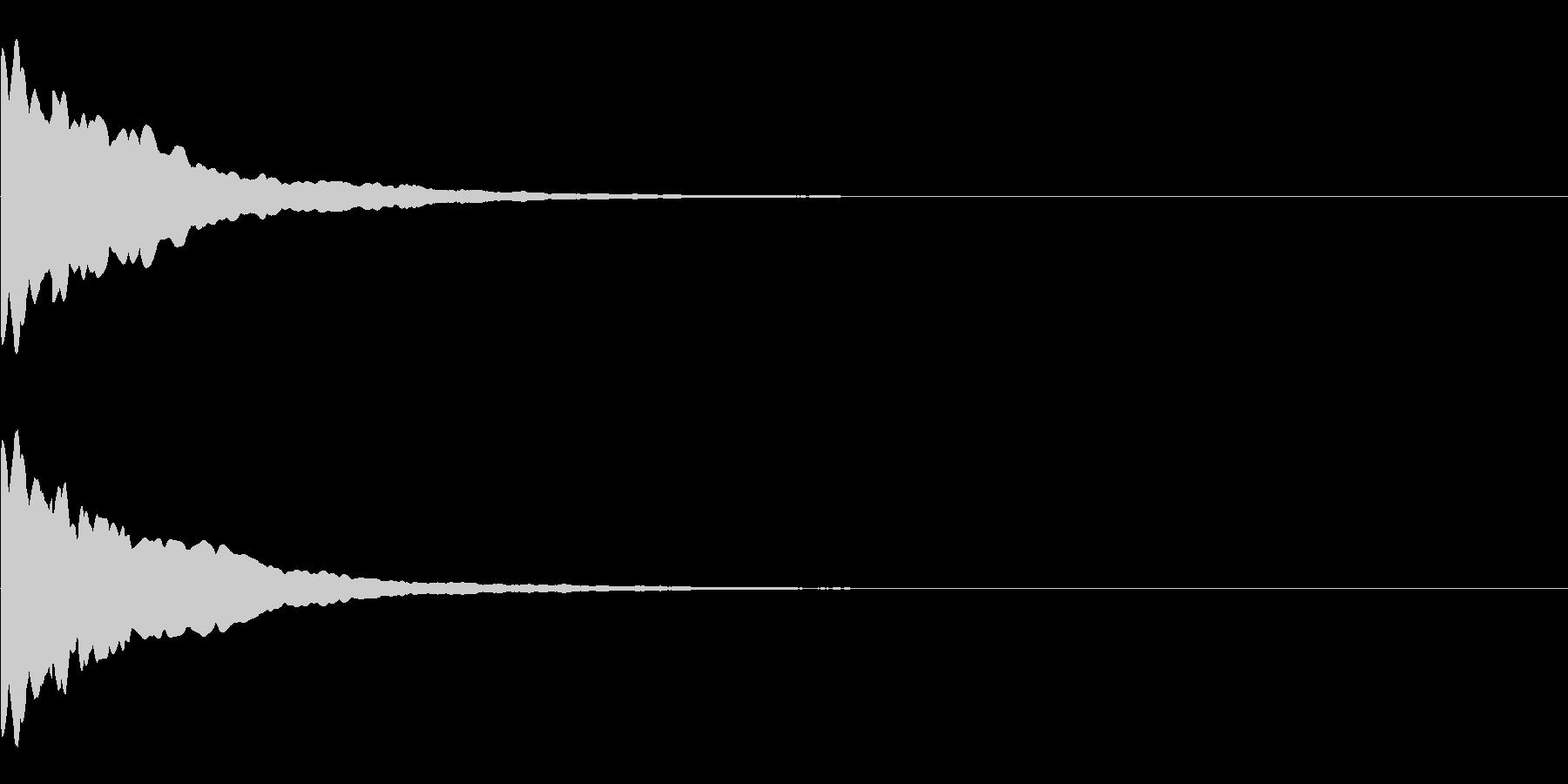 キーン(ひらめき、発見)の未再生の波形