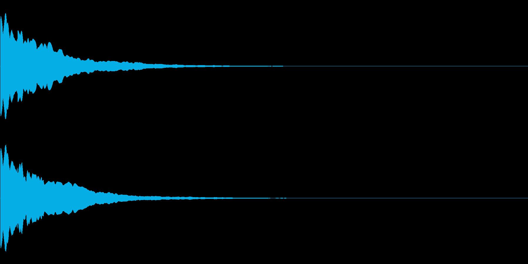 キーン(ひらめき、発見)の再生済みの波形