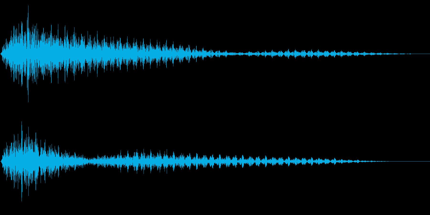 ホラー系アタック音52の再生済みの波形