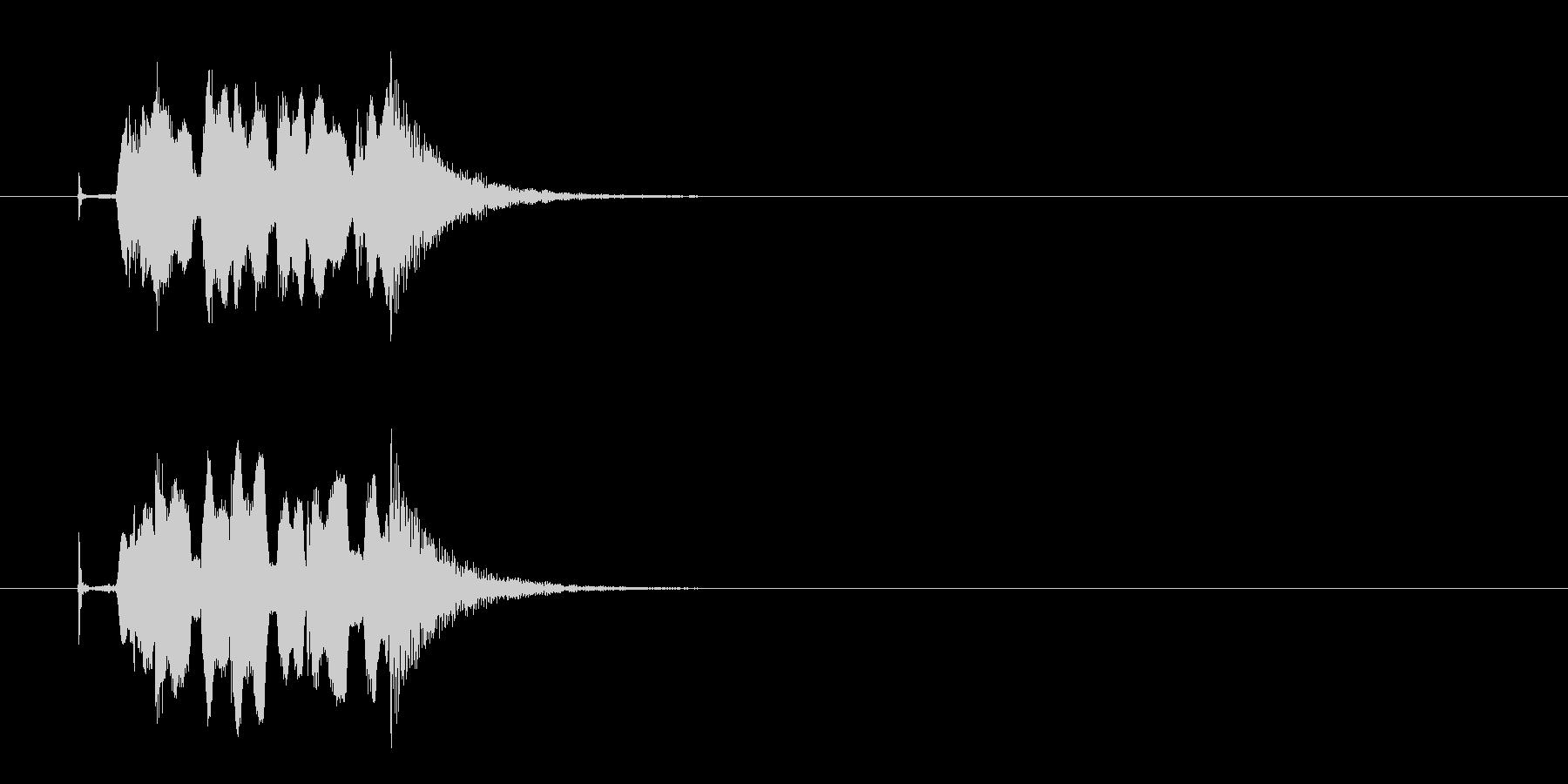 コミカル クイズ 不正解 時間切れの未再生の波形