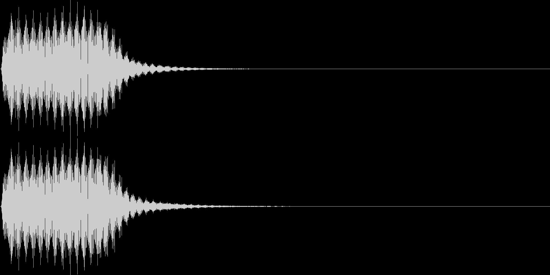 プッ。クラクション(短)の未再生の波形