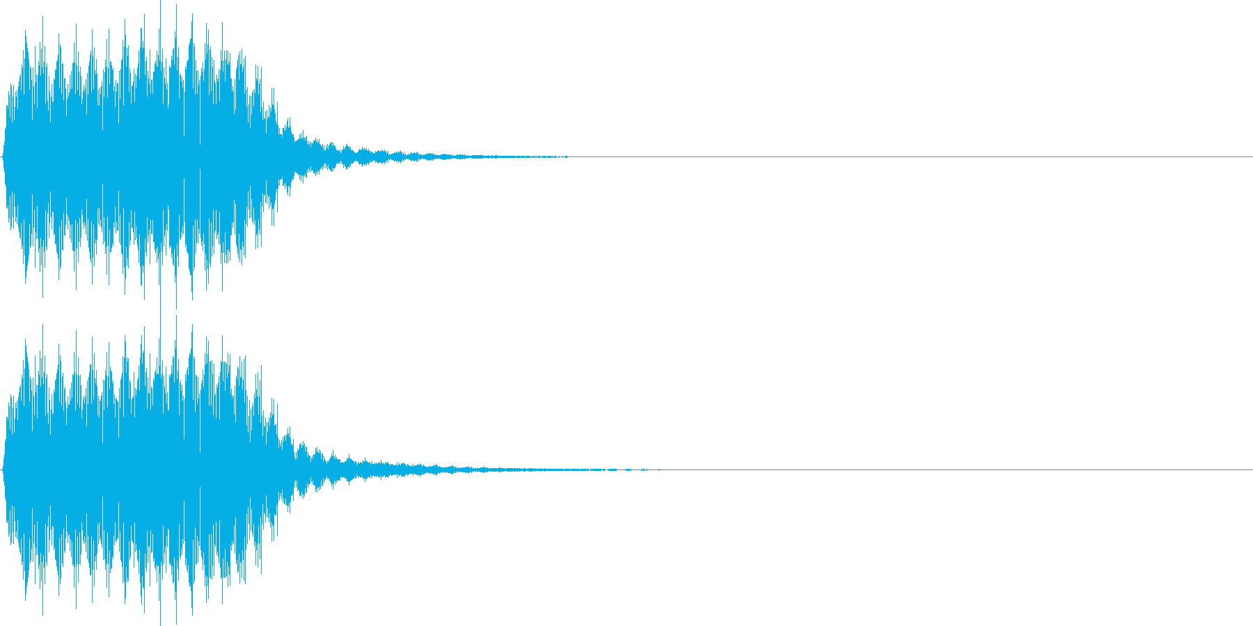 プッ。クラクション(短)の再生済みの波形