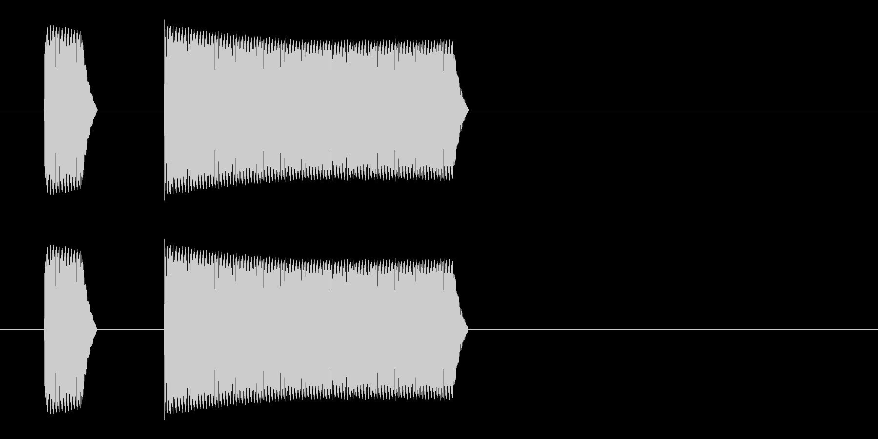 ブッブー(不正解、大間違い、禁止)の未再生の波形