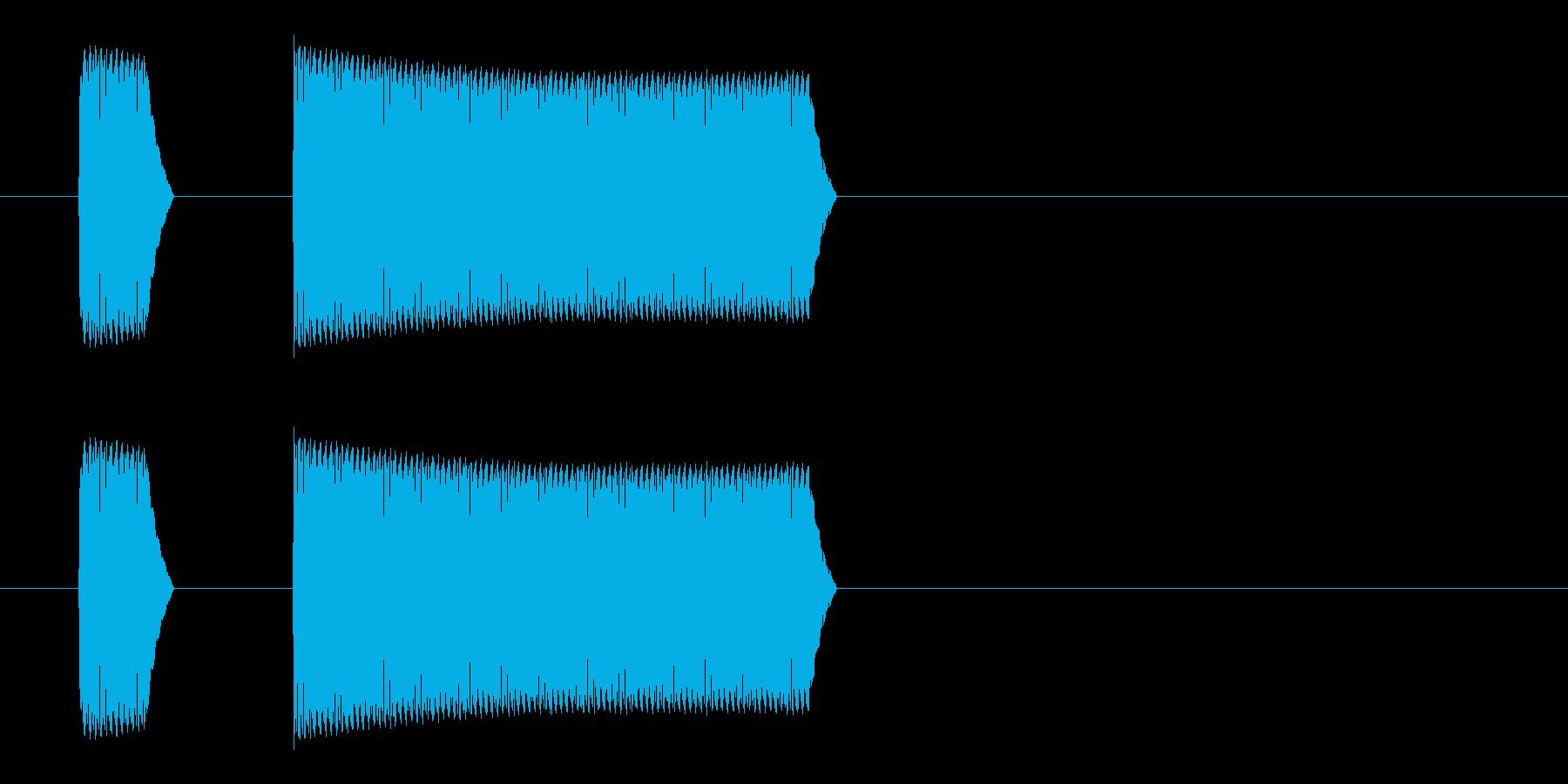 ブッブー(不正解、大間違い、禁止)の再生済みの波形