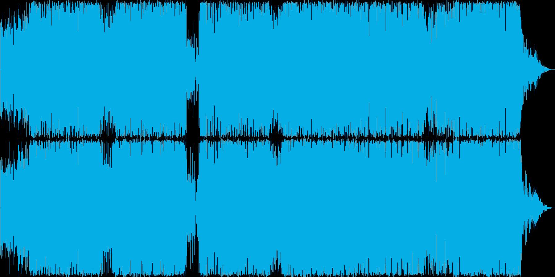 激しいビートのポップスの再生済みの波形