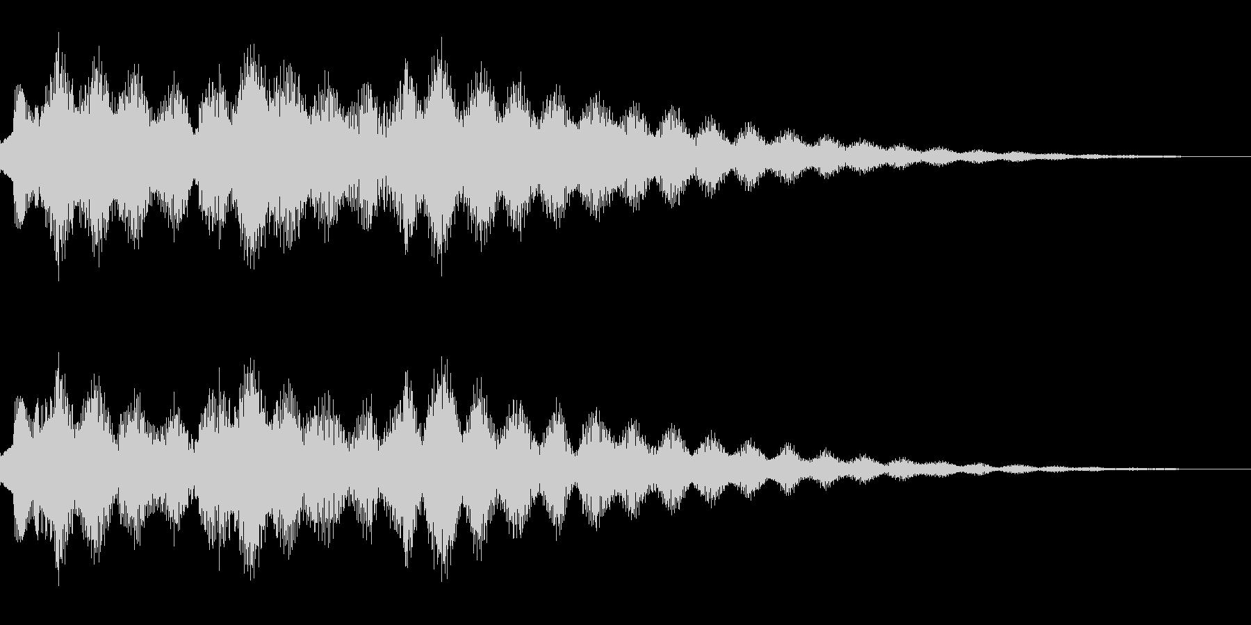 エレクトリックピアノを使ったサウンドロゴの未再生の波形