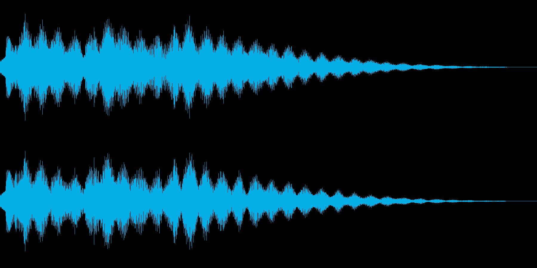 エレクトリックピアノを使ったサウンドロゴの再生済みの波形