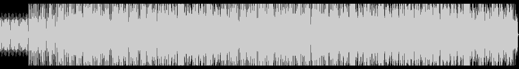 シンセが印象的なドライブをイメージした曲の未再生の波形