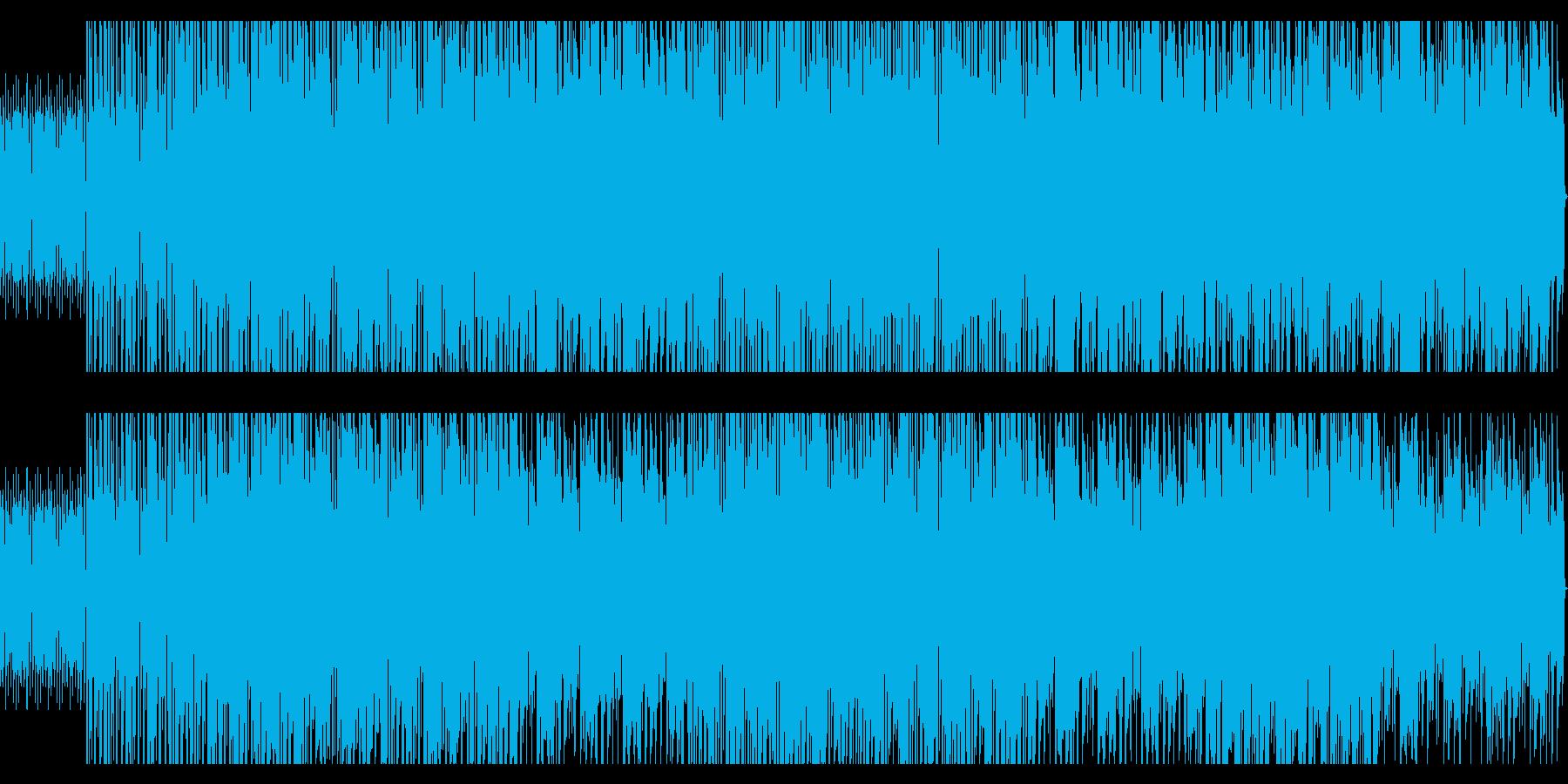 シンセが印象的なドライブをイメージした曲の再生済みの波形