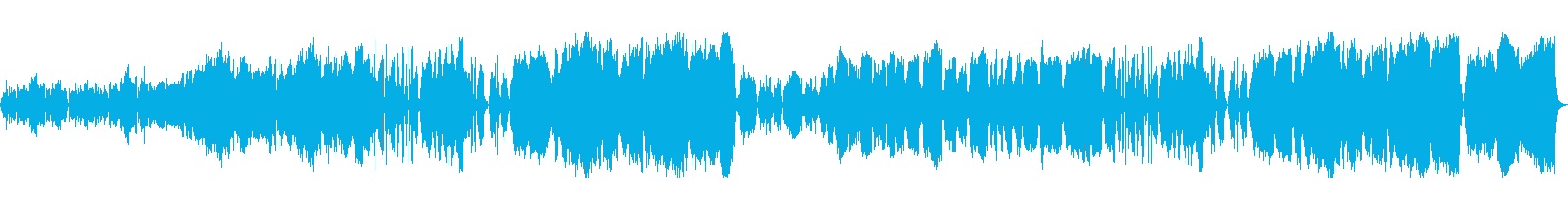 ほのぼのとした弦楽四重奏の再生済みの波形