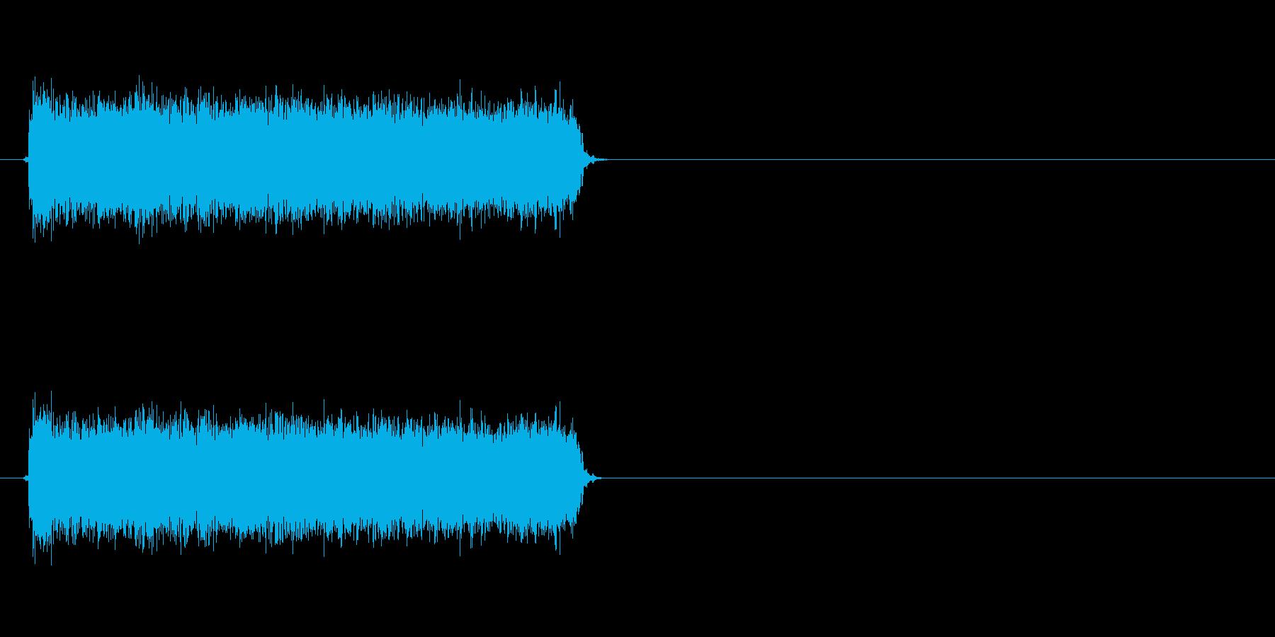 ロック曲等に使えるエレキギター効果音4の再生済みの波形