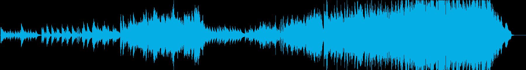 ピアノとストリングスの優しい曲、映像等にの再生済みの波形