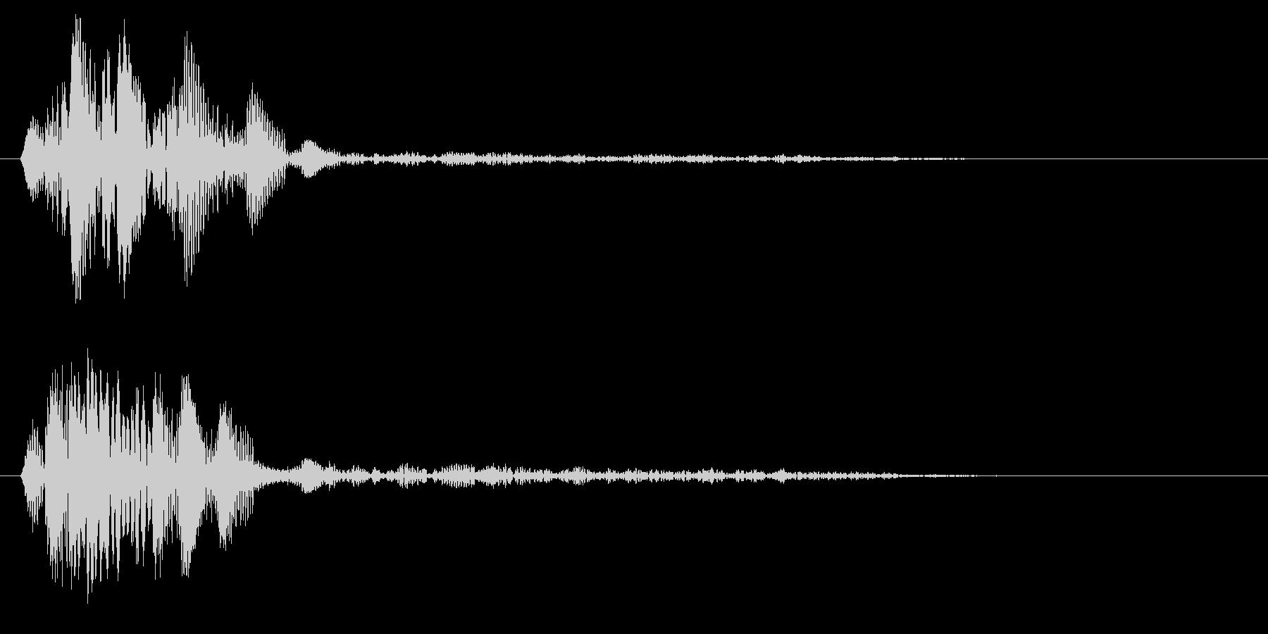 チュワッ(選択告知やメニー内の移動効果)の未再生の波形
