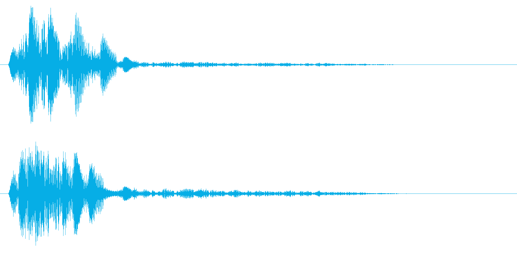 チュワッ(選択告知やメニー内の移動効果)の再生済みの波形