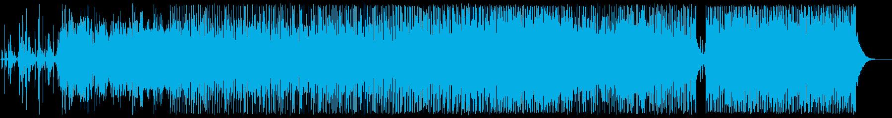 SF系宇宙感のあるシンセサイザーサウンドの再生済みの波形