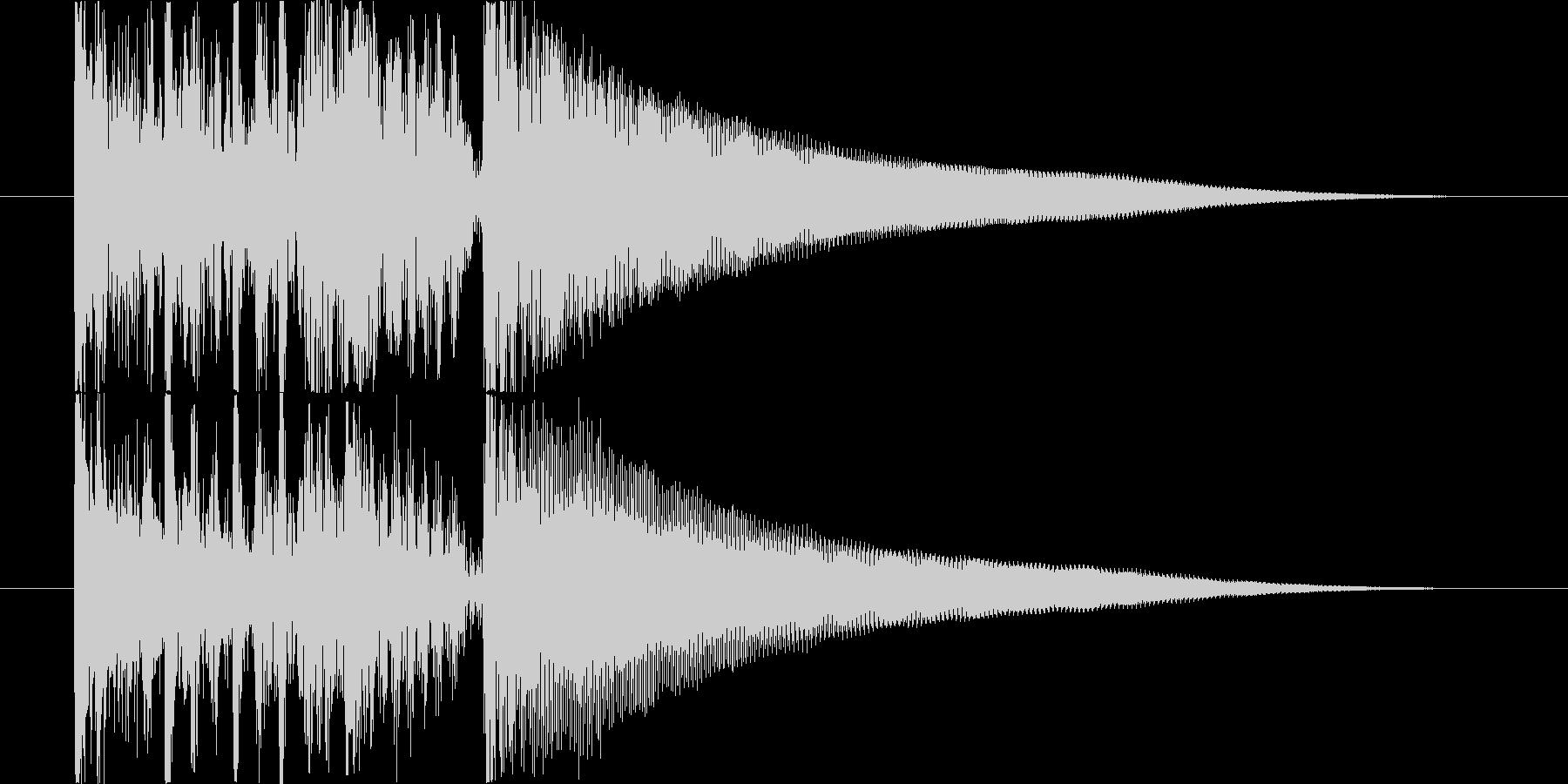 パーカッシブなアコギのジングルの未再生の波形