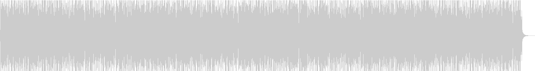 ミディアムテンポのファンクロックの未再生の波形