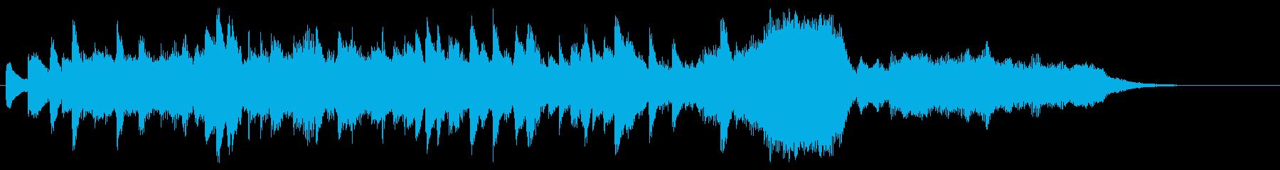 郷愁の場面に優しく前向きなオーケストラ5の再生済みの波形