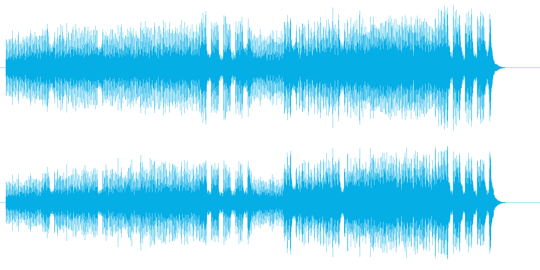 オリジナル・ストリングの弦楽四重奏の再生済みの波形