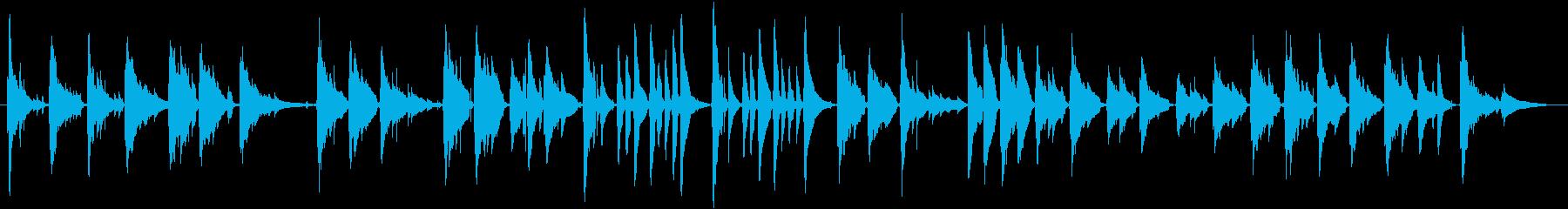 癒し系、しっとり系の汎用BGMの再生済みの波形