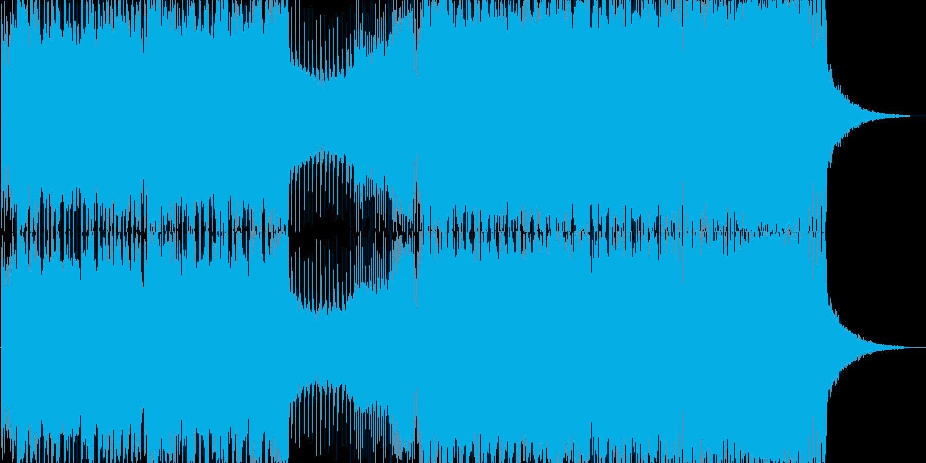 クール系ローテンポEDMの再生済みの波形