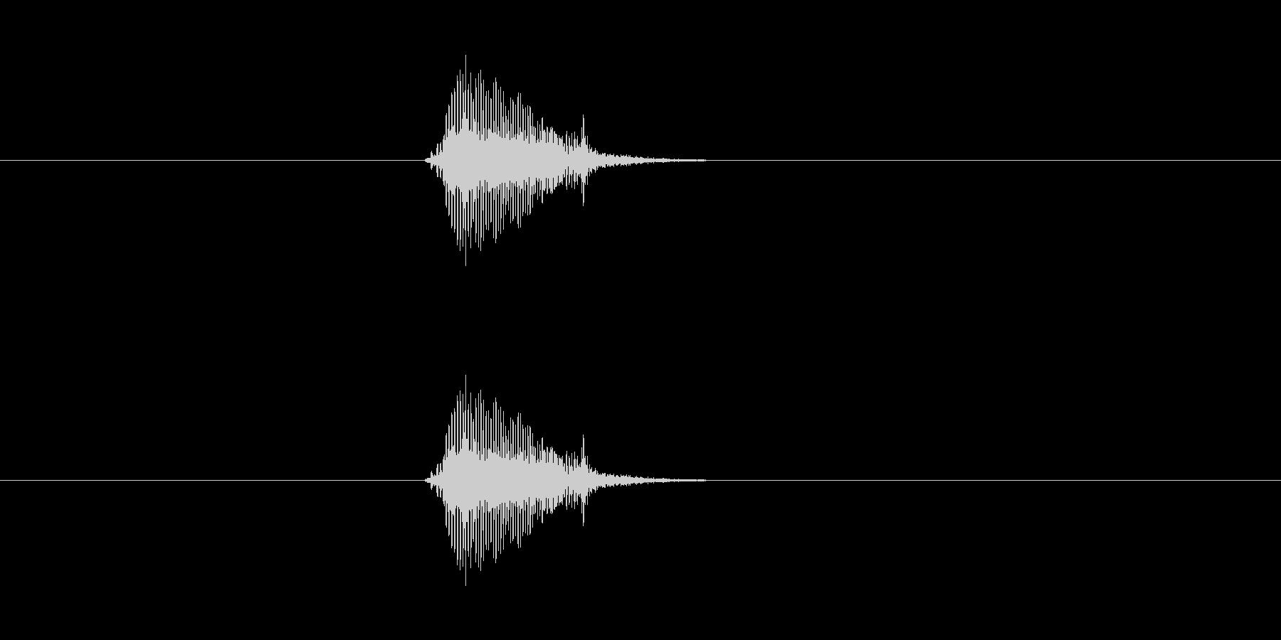えの未再生の波形